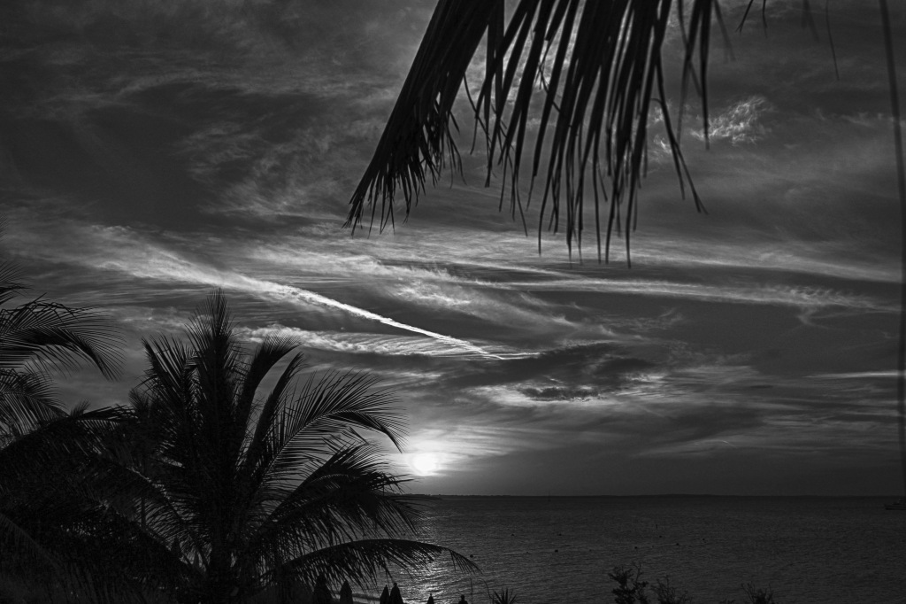 Sunset in b/w