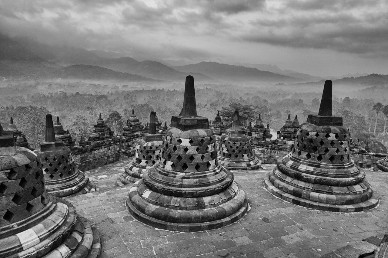 Borobudur in the Mist
