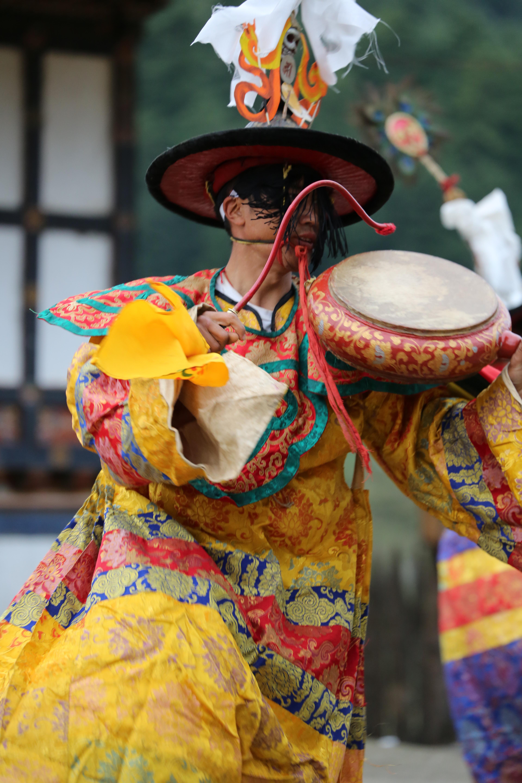 Black Hat Dance Bhutan #bumthang #bhutan #culture